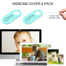 blue webcam cover