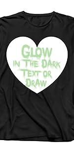 camiseta de manga larga que brilla en la oscuridad