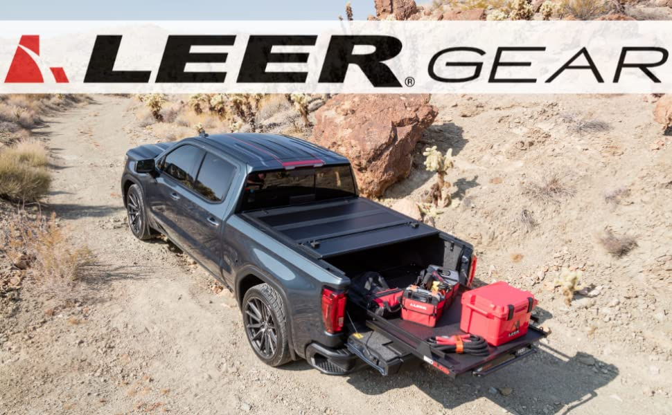 LEER GEAR BubbaRope Recovery Kit Rooftop Tent Cooler Storage Caddy Tonneau Cleaner Protectant Cap