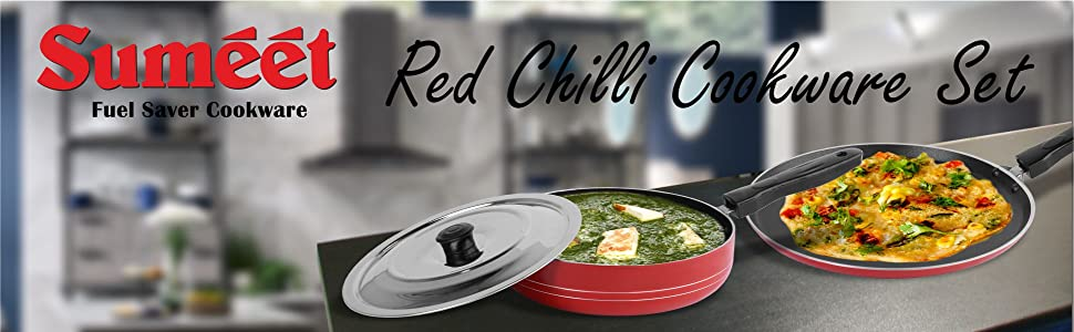SUMEET RED CHILLI COOKWARE SET