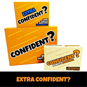 Confident party board game extra info expansion packs personal