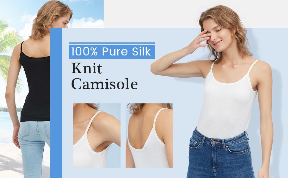 silk knit camisole