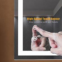 lighted bathroom mirror 28x20 inch
