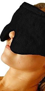 unscented huggaroo eye mask in black