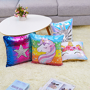 unicorn sequin pillow red sequin pillow sequin pillow with insert sequin throw pillow party décor