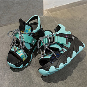thick bottom sandals lace up sandals blue shoes for women fashion sneakers tennis shoes for women