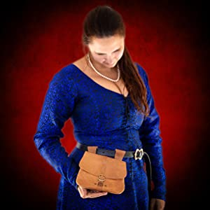 Halloween prop witch leather bag renaissance pouch costume LARP SCA sorceress spell magic