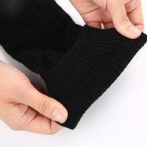 black thigh high socks cuff