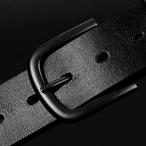 JASGOOD Mens Replacement Leather Belt, Vintage Leather Belt Strap with Snap on Buckle Width