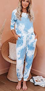 Sleeveless Tie dye Sweatsuits