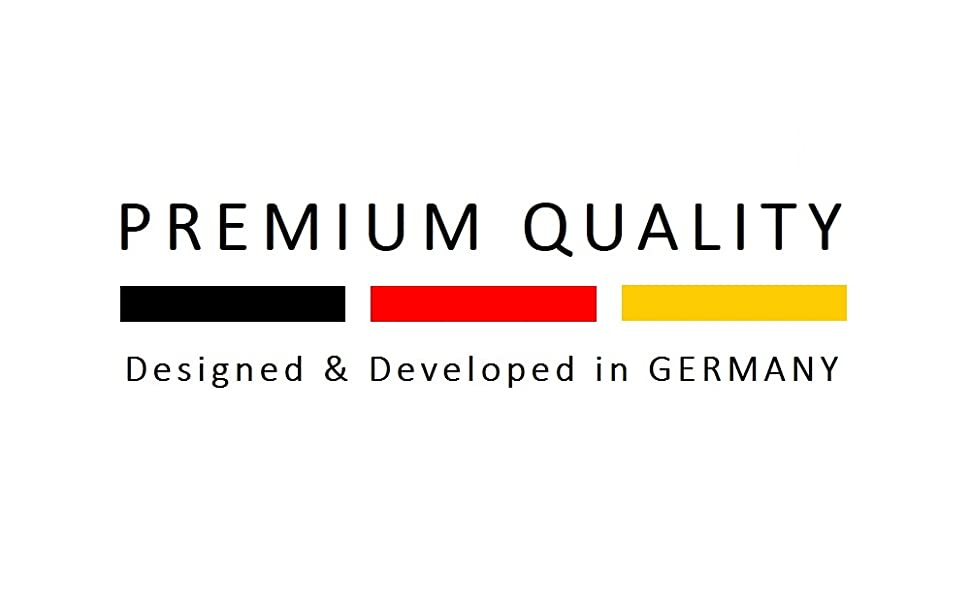 Premium kwaliteit - ontworpen en ontwikkeld in Duitsland