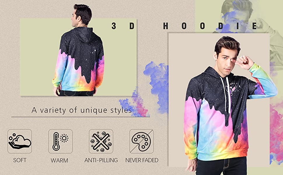3d all over print hoodie
