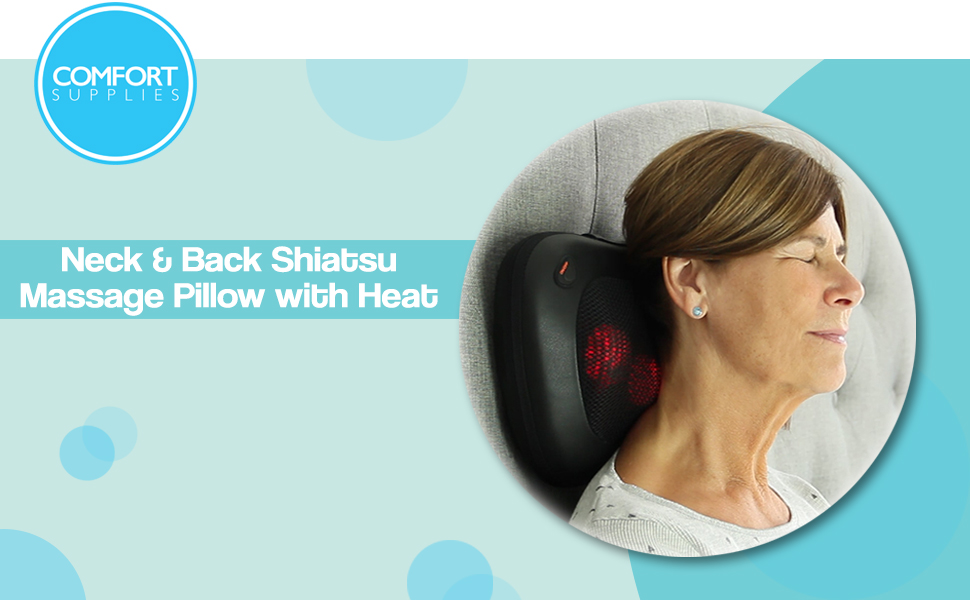 Massager Neck and Back Shiatsu Massage Pillow with Heat Deep Tissue Kneading Cushion Main