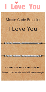 I Love You Morse Code Bracelet Couples Matching Bracelets Relationship Beads Bracelet