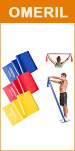 OMERIL Elastici Fitness (Set di 5), Bande di Resistenza Fitness con 5 Livelli di Resistenza, Fasce Elastiche Fitness per Crossfit, Yoga, Pilates, Squats, Lunges, Stretching, Allenamento di Forza
