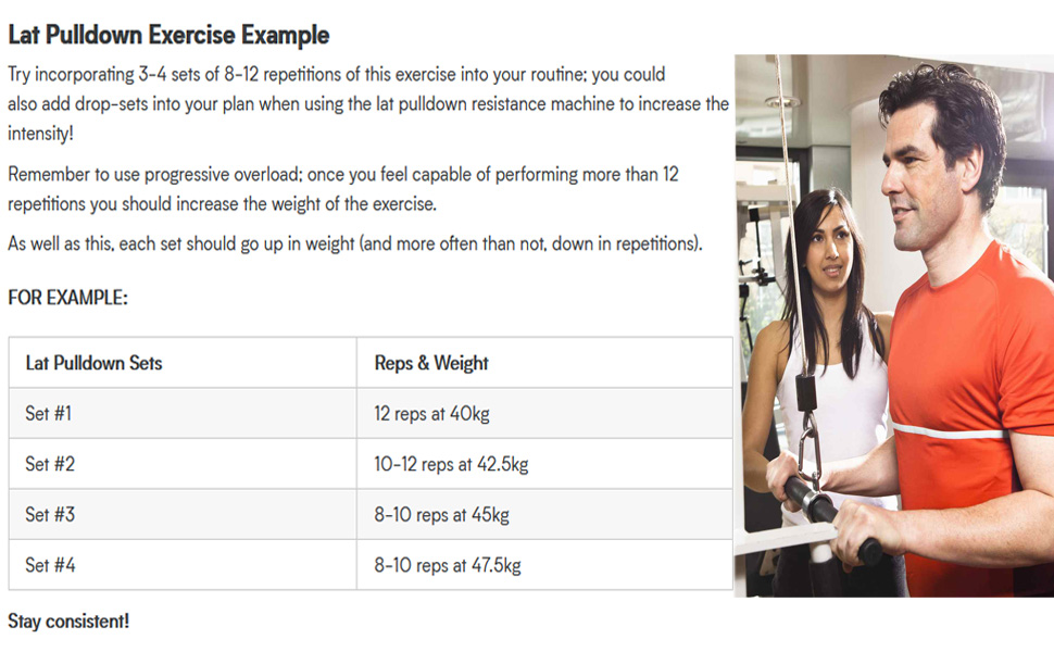 Lat Pulldown Exiercise Example