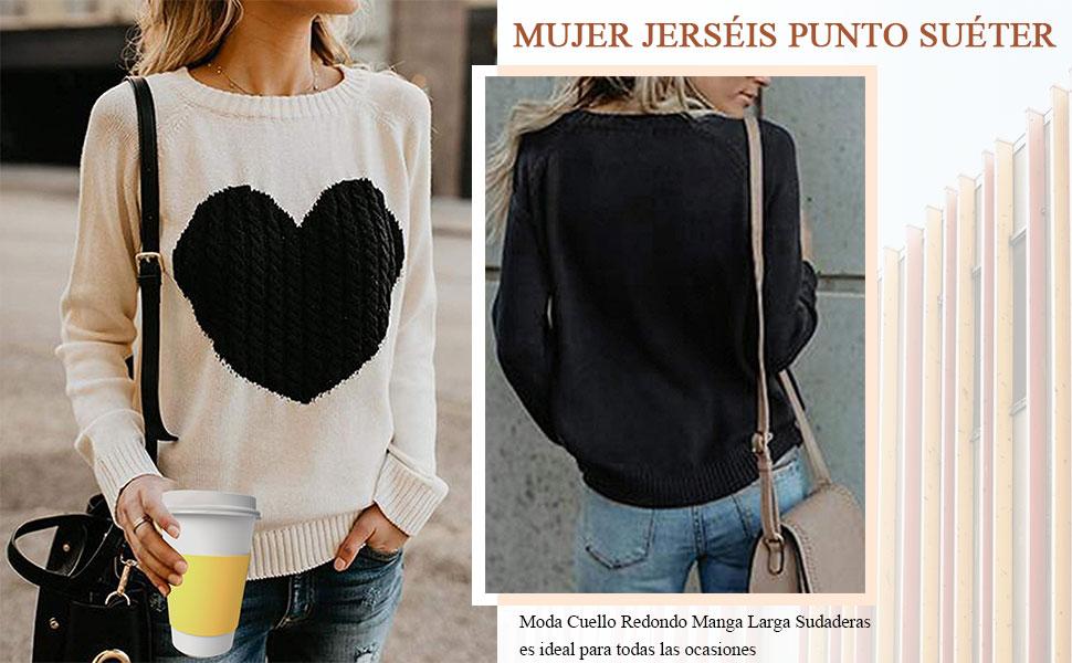 Mujer Jerséis Punto Suéter