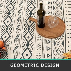 geometric indoor throw rug carpet