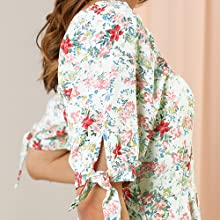 Women's Floral Sweetheart Neck Puff Sleeve Fit and Flare A-Line Mini Dress