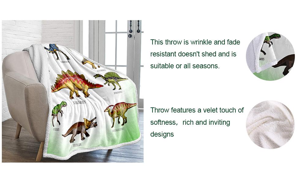 Warm Sherpa Throw Blanket