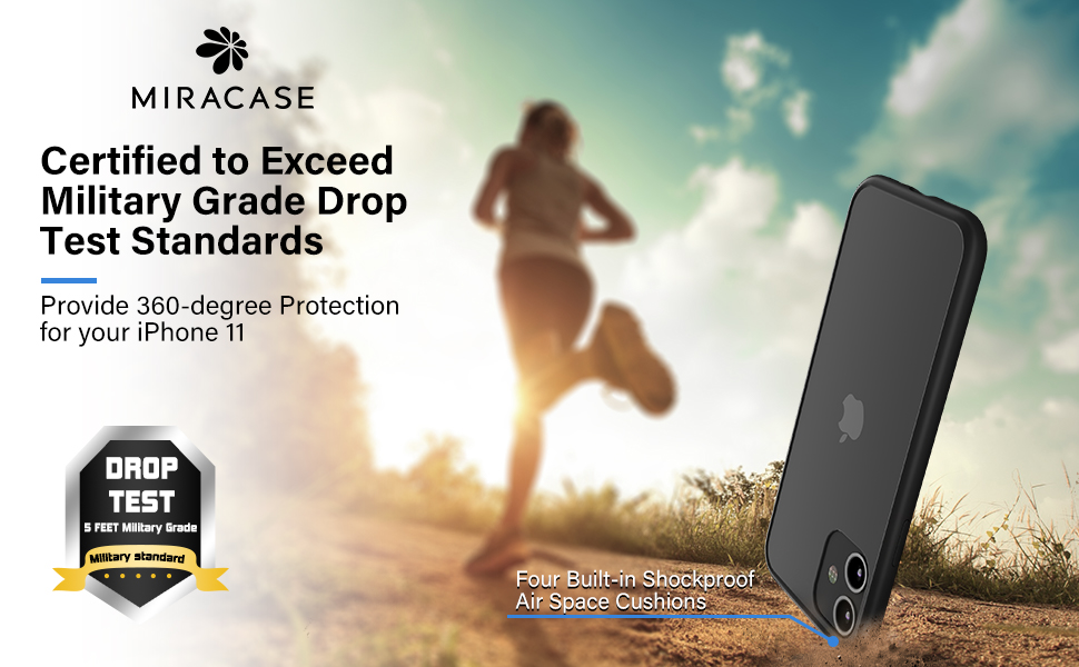 iphone 11 case Certified to Exceed Military Grade Drop Test Standards