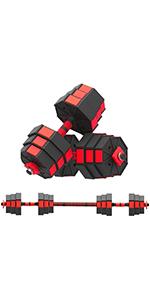 HTNBO Weights Dumbbells Set Adjustable to 22-66Lbs