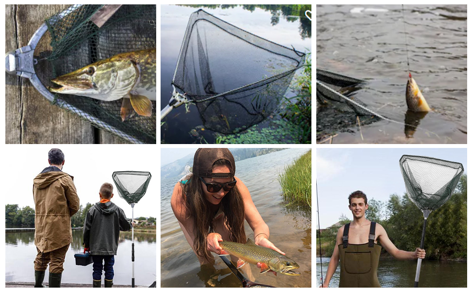 durable landing net for adult and kids