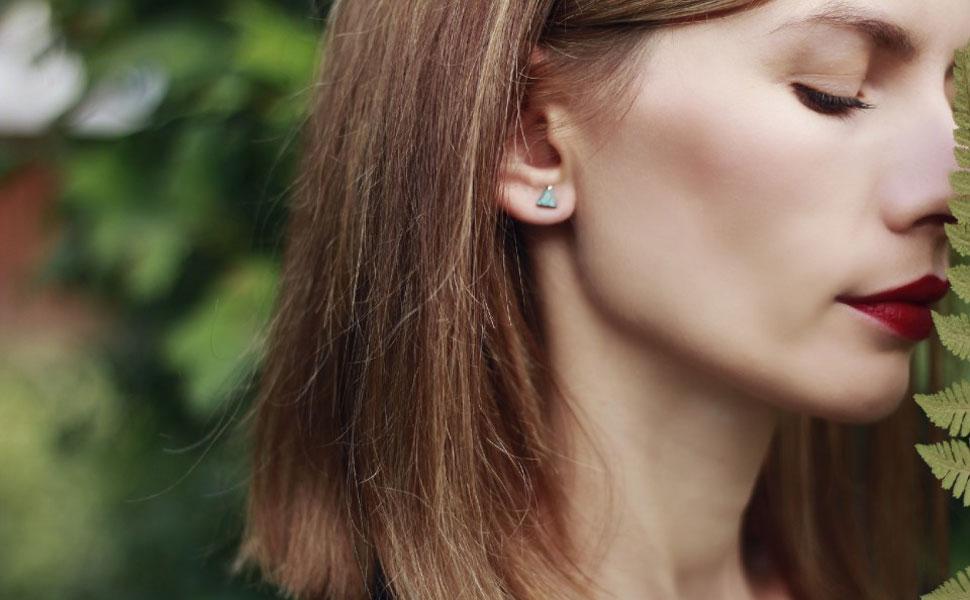turquoise earrings for women sterling silver