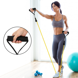 Guguda Resistance Bands Set for Home Workout Physical Strength Training Yoga Pilates Fitness Strong Hook Exercise Bands Set Stretching Elastic Bands with Different Strengths for Men and Women