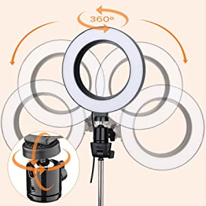12cm led ring light with tripod stand