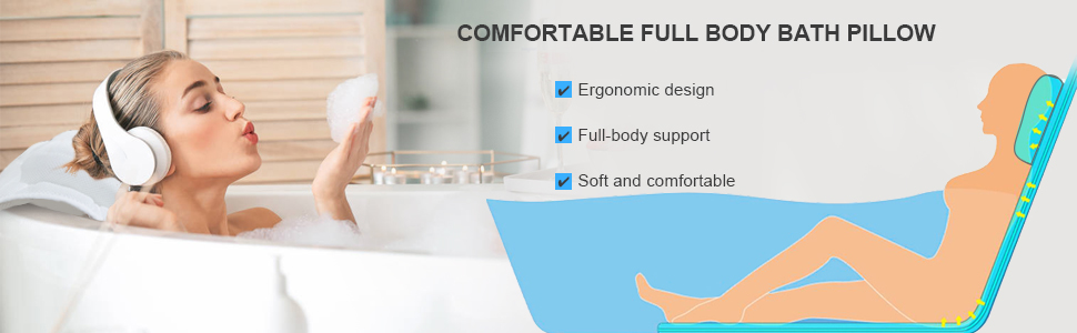 comfortable full body bath pillow