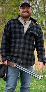 Fleece henley shirt plaid venado deer whitetail