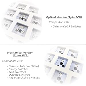 Hot Swappable Gateron Mechanical / Optical Switches
