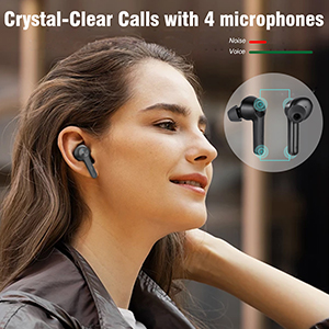 Wireless Earbuds with 4 Mics