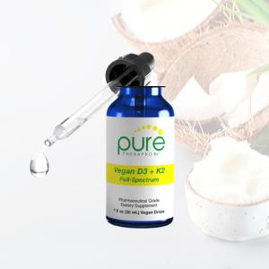 vegan d3 k2 full spectrum liquid drops absorption mct oil gmp filler free bones healthy arteries