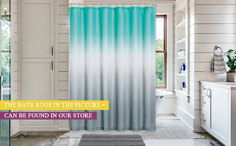bathroom rugs and shower curtains