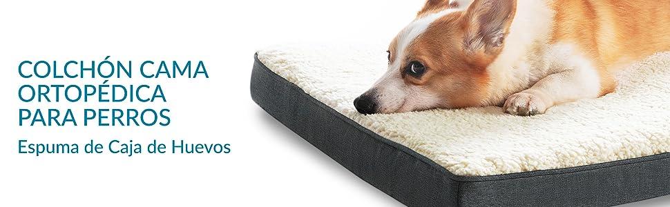 Bedsure Cama Perro Extra Grande Ortopédica - Colchón Perro ...