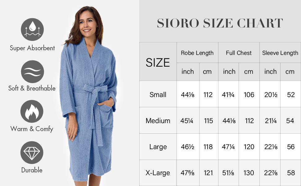 robe size