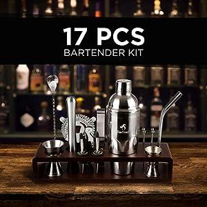 bar set cabinet bartender kit