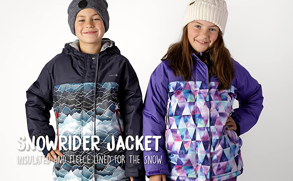 Therm Girls Boys Snow Pants Black Blue Purple Kids Youth Waterproof Insulated Convertible Bib Snow Suit