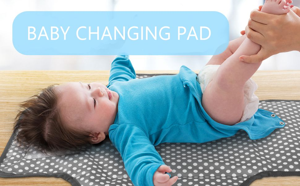 Changing Pad Wave Printed Diaper Change Pad Diaper Change Pad Portable Waterproof Diaper Travel Changing Station for Newborn and Toddler Green 1PC