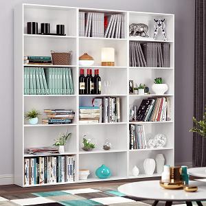 Homfa Estantería 6 Cubos Librerías para Libros CDs DVDs ...