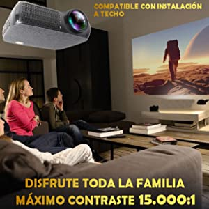 proyector 4k 1080p nativo FULLHD compatible con PS5 XBOX PS4 Switch pc ordendador bluray
