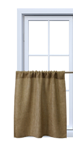 burlap curtains 24 inch