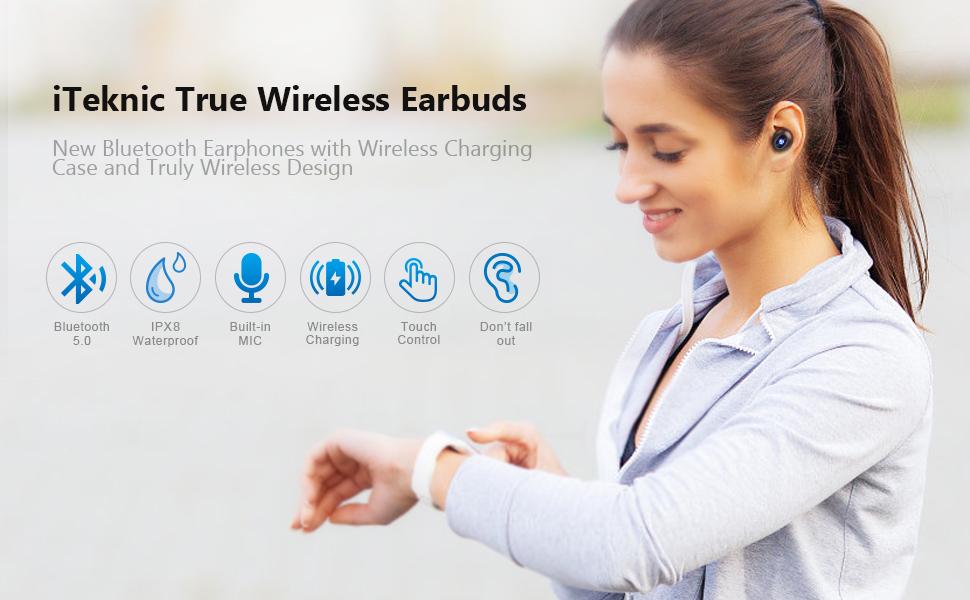 iteknic wireless bluetooth earbuds