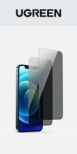 UGREEN Privacy Screen Protector Tempered Glass Anti-Spy Protector Film