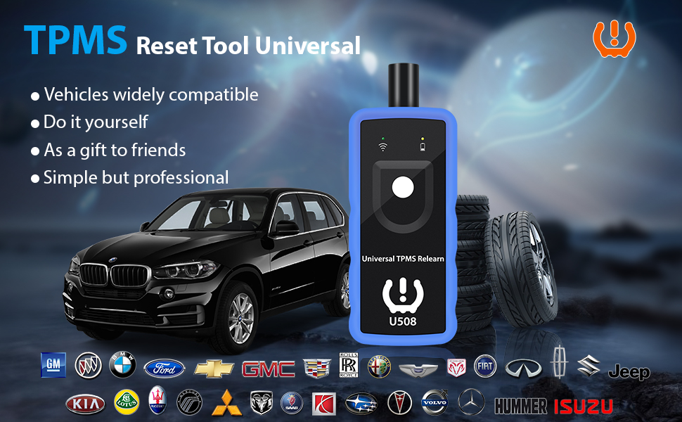 FASLINK TPMS Relearn Tool for GM Honda and Ford Series Vehicle U508 Universal Tire Pressure Monitor Sensor TPMS Reset Tool 2020 Edition