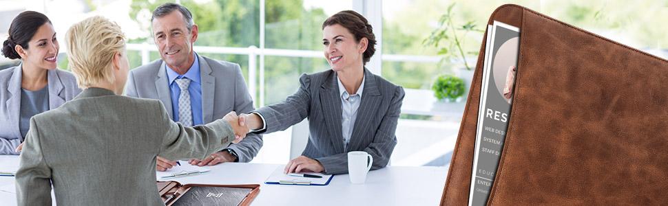 Interview, graduates, lawyers, meetings, graduation, gift, resume, business portfolio folder