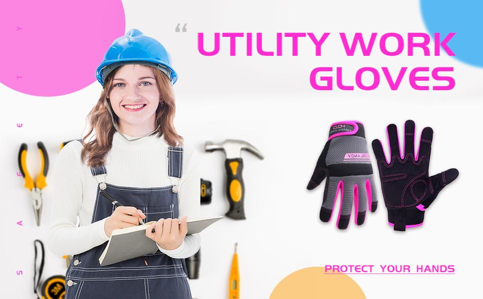 utility work gloves for women