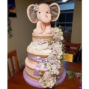 artificial flowers arrangements pale purple silk flower for cake decoration